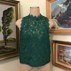 Zara lacy blouse top, L